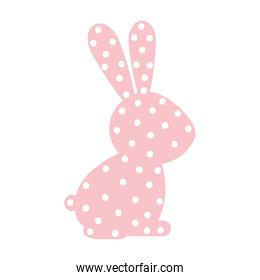 pattern with rabbit domestic animal color