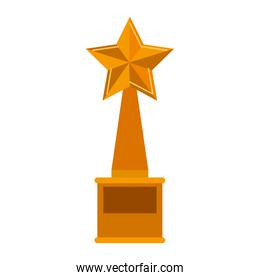 trophy star Golden with plate