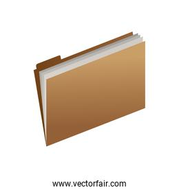 office open folder with sheets