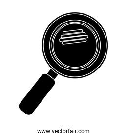 silhouette magnifying glass with with glitters