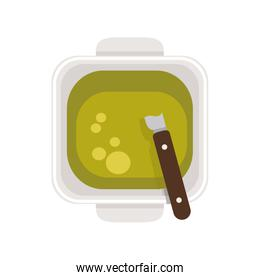 food plate with Green Sauce