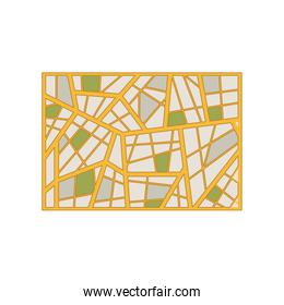 map abstract background with geometric figures