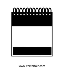 monochrome notebook spiral with sheets