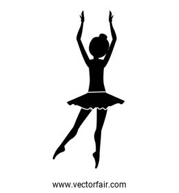silhouette with dancer clears behind fifth position