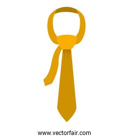 Tie in yellow color with knot