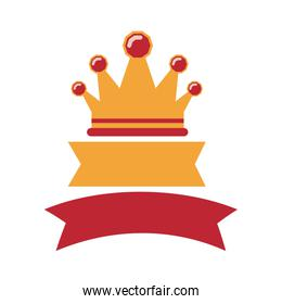 crown with labels red and yellow