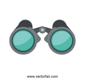 front view binoculars with blue glasses