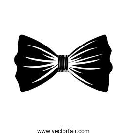 black silhouette of bow tie