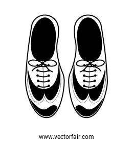 silhouette tap shoes for mens with laces