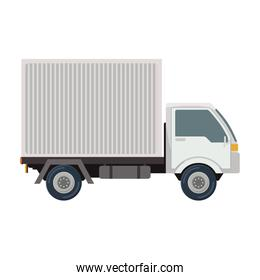 transport truck with vagon and wheels