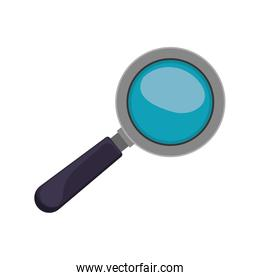 magnifying glass with black base