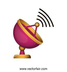 antenna with wireless waves