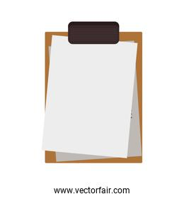 silhouette with table notepad and sheets