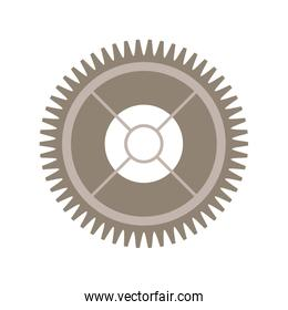 silhouette gear wheel with pinion
