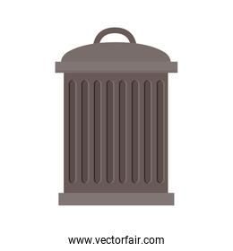 trash bin with lid and striated