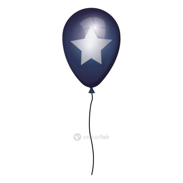 globe blue with white star