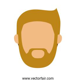 head man with beard without face