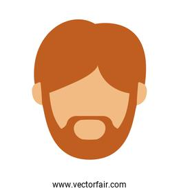 head man with redhead beard without face