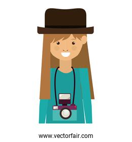 hipster woman icon