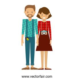 hipster couple icon