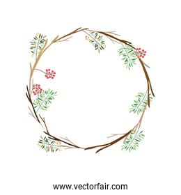 colorful decorative crown branch floral