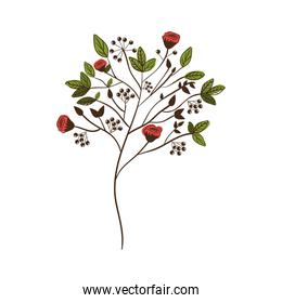 colorful decorative branch with flowers
