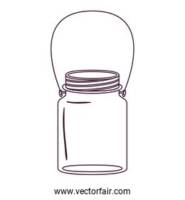 silhouette jar of jam with handle