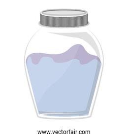 silhouette glass container with liquid