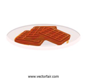 image color of dish with waffles