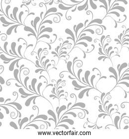 silver leaves background