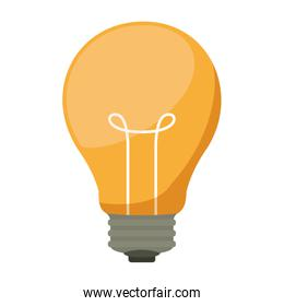 silhouette light bulb with filaments