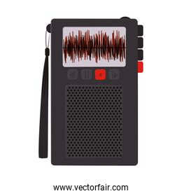 tech Radio recorder with buttons