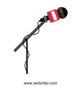 microphone stand with round grid