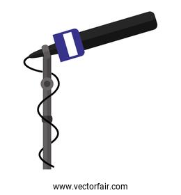 microphone stand with dark blue support