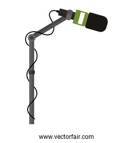 microphone stand with green support
