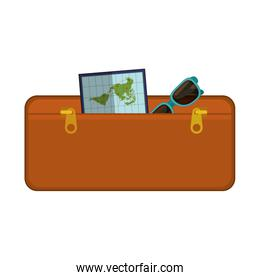 travel suitcase brown of vacation