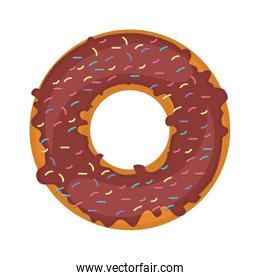 silhouette donut with colored sparks