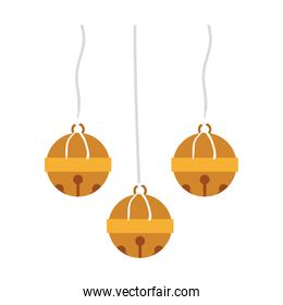 image color with golden garland hanging