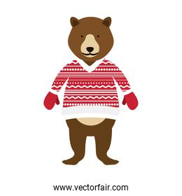 christmas bear cartoon