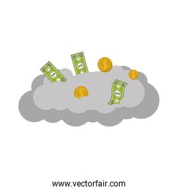 cloud with money items