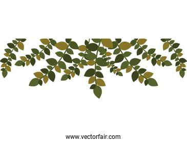 christmas leaf frame with ramifications