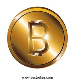 silhouette with coin gold and currency symbol of bitcoin cryptocurrency