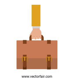 silhouette with hand taking Executive Briefcase
