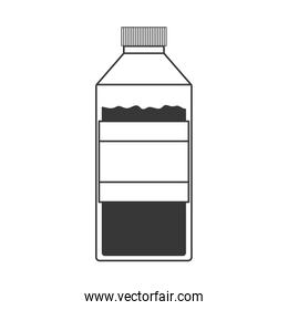 monochrome silhouette of bottle with liquid