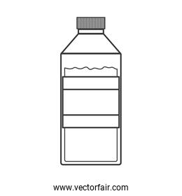 contour silhouette of bottle with liquid