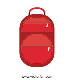full color suitcase with pockets with zipper