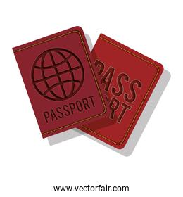 full color with passport with circle label
