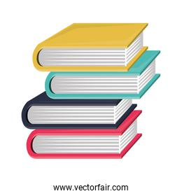 colorful and irregular stacked books