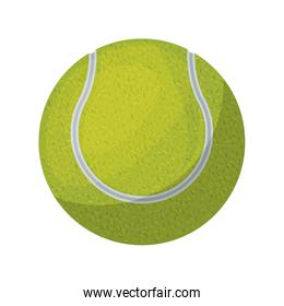 silhouette color with tennis ball