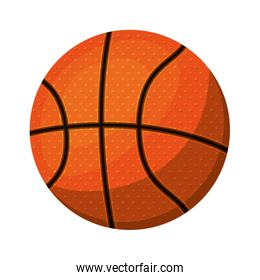 silhouette color with basketball ball to left